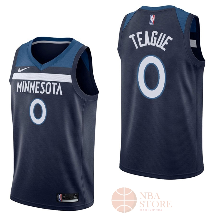 Classic Maillot NBA Nike Minnesota Timberwolves NO.0 Jeff Teague Marine Icon