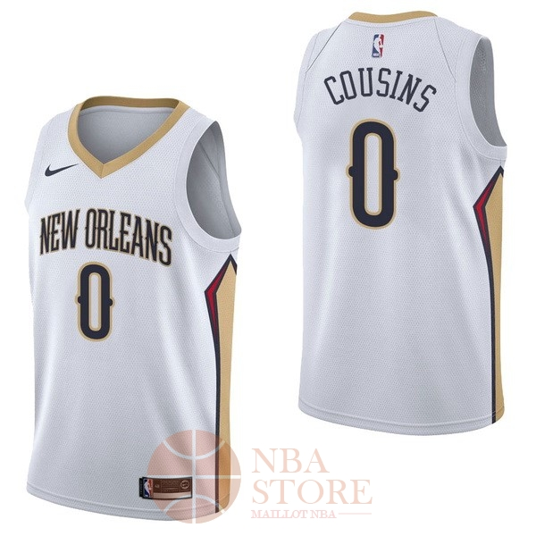 Classic Maillot NBA Nike New Orleans Pelicans NO.0 DeMarcus Cousins Blanc Association