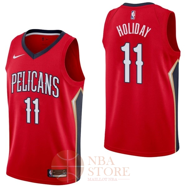 Classic Maillot NBA Nike New Orleans Pelicans NO.11 Jrue Holiday Rouge Statement