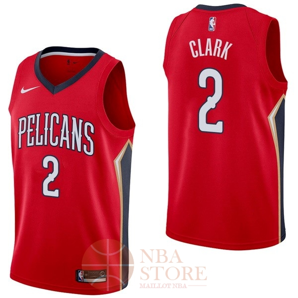 Classic Maillot NBA Nike New Orleans Pelicans NO.2 Ian Clark Rouge Statement
