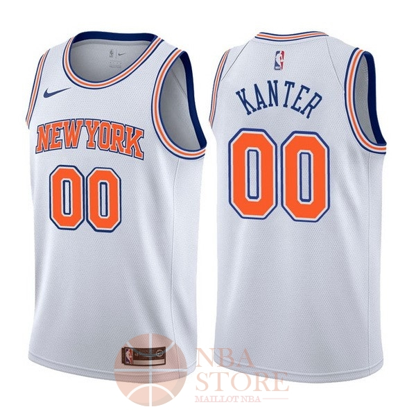 Classic Maillot NBA Nike New York Knicks NO.0 Enes Kanter Blanc Statement