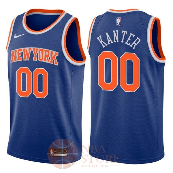 Classic Maillot NBA Nike New York Knicks NO.0 Enes Kanter Bleu Icon