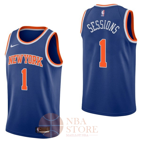 Classic Maillot NBA Nike New York Knicks NO.1 Ramon Sessions Bleu Icon