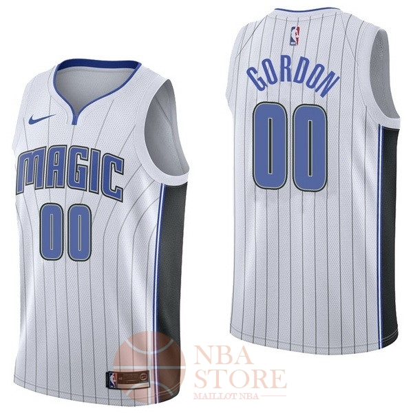 Classic Maillot NBA Nike Orlando Magic NO.0 Aaro Gordon Blanc Association