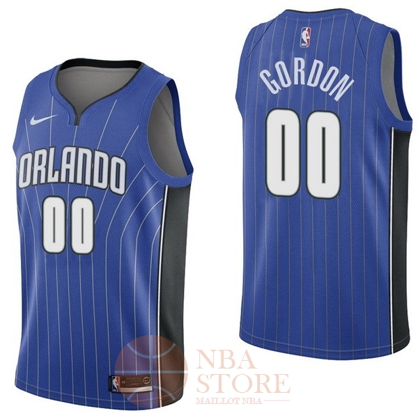 Classic Maillot NBA Nike Orlando Magic NO.0 Aaro Gordon Bleu Icon