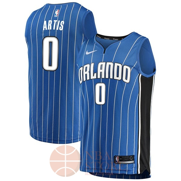 Classic Maillot NBA Nike Orlando Magic NO.0 Jamel Artis Bleu Icon