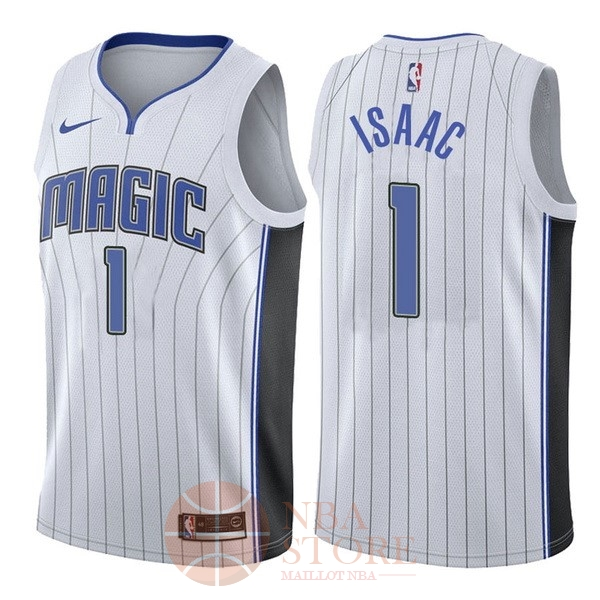 Classic Maillot NBA Nike Orlando Magic NO.1 Jonathan Isaac Blanc Association