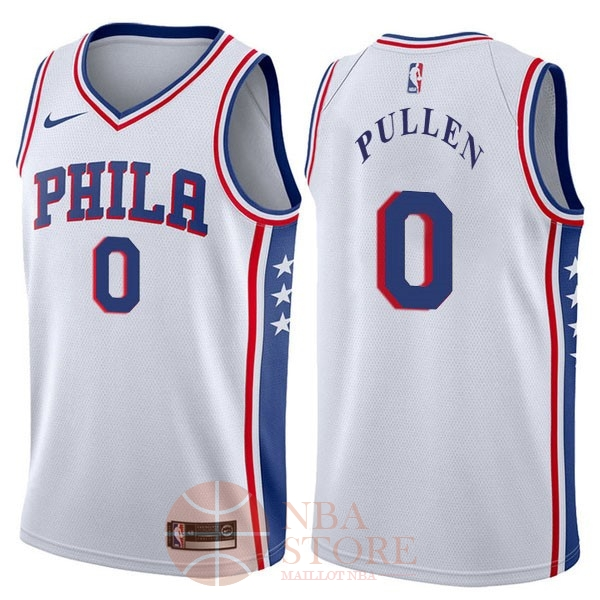 Classic Maillot NBA Nike Philadelphia Sixers NO.0 Jacob Pullen Blanc Association