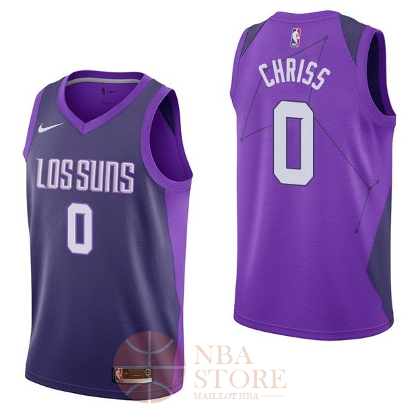 Classic Maillot NBA Nike Phoenix Suns NO.0 Marquese Chriss Nike Pourpre Ville