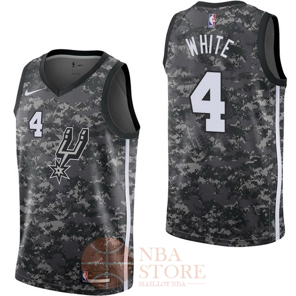 Classic Maillot NBA Nike San Antonio Spurs NO.4 Derrick White Nike Camouflage Ville