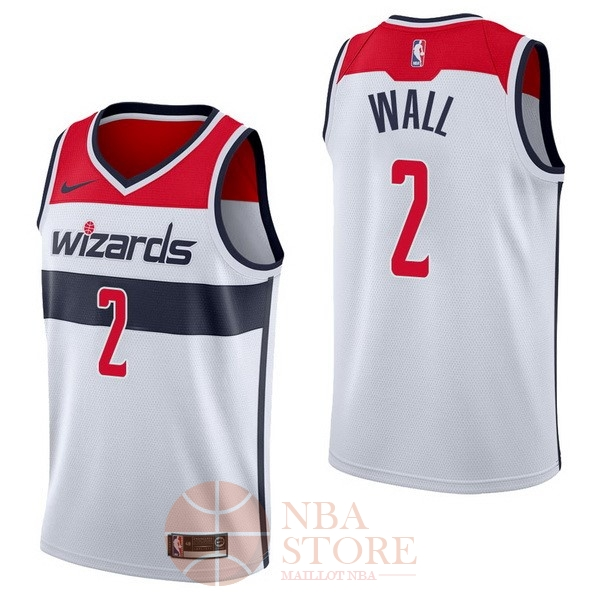 Classic Maillot NBA Nike Washington Wizards NO.2 John Wall Blanc Association