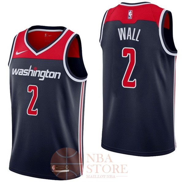 Classic Maillot NBA Nike Washington Wizards NO.2 John Wall Marine Statement