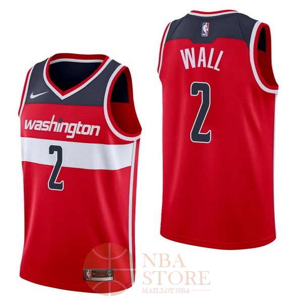 Classic Maillot NBA Nike Washington Wizards NO.2 John Wall Rouge Icon