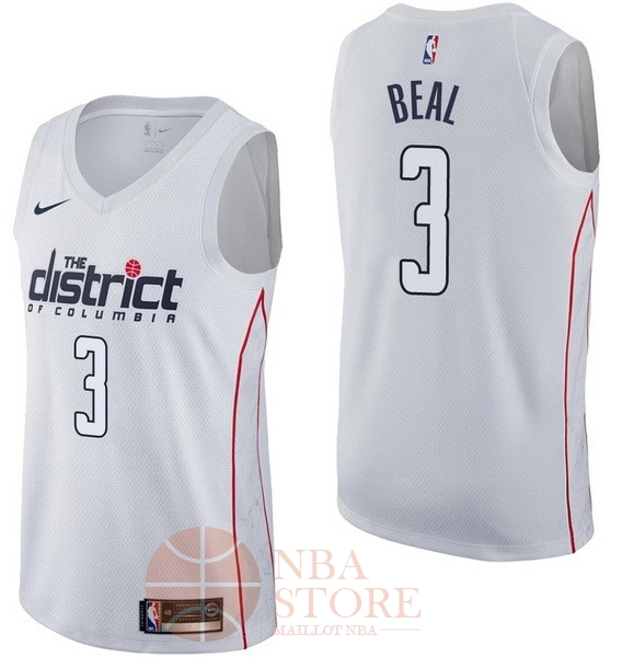Classic Maillot NBA Nike Washington Wizards NO.3 Bradley Beal Nike Blanc Ville