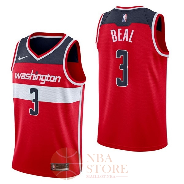 Classic Maillot NBA Nike Washington Wizards NO.3 Bradley Beal Rouge Icon