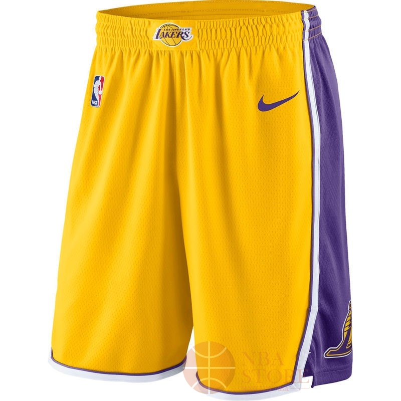 Classic Short Basket Los Angeles Lakers Nike Jaune