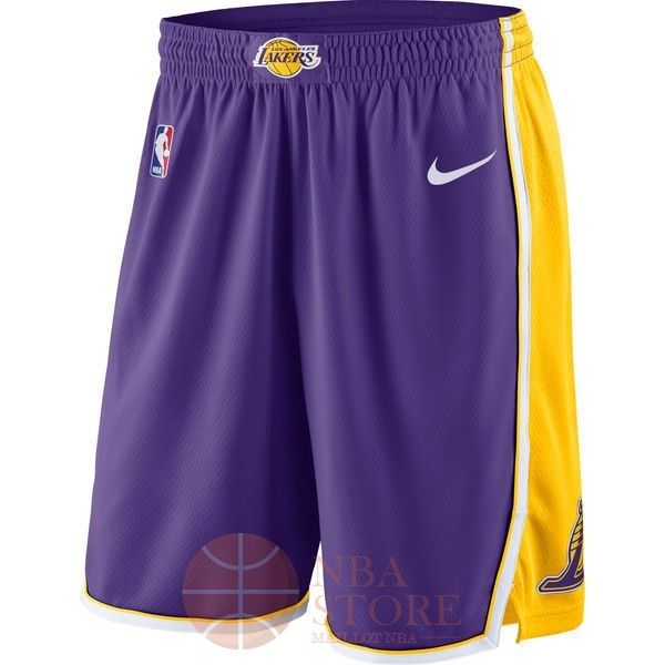 Classic Short Basket Los Angeles Lakers Nike Pourpre