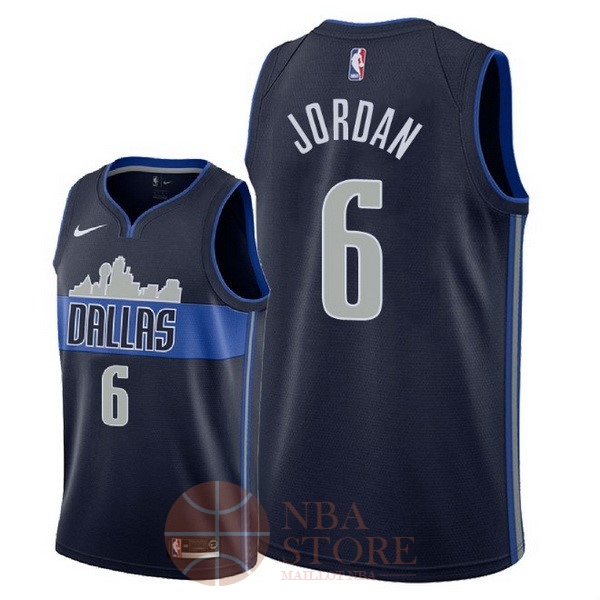 Classic Maillot NBA Nike Dallas Mavericks NO.6 DeAndre Jordan Noir Statement 2018