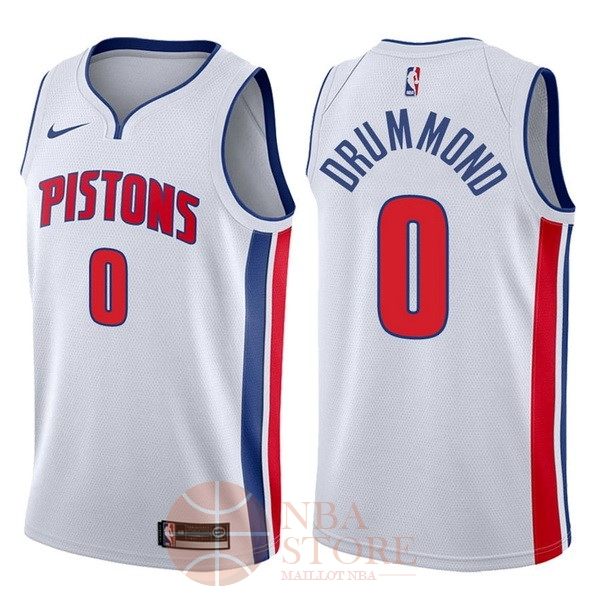 Classic Maillot NBA Nike Detroit Pistons NO.0 Andre Drummond Blanc Association 2017-18