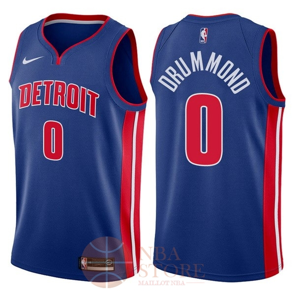 Classic Maillot NBA Nike Detroit Pistons NO.0 Andre Drummond Bleu Icon 2017-18