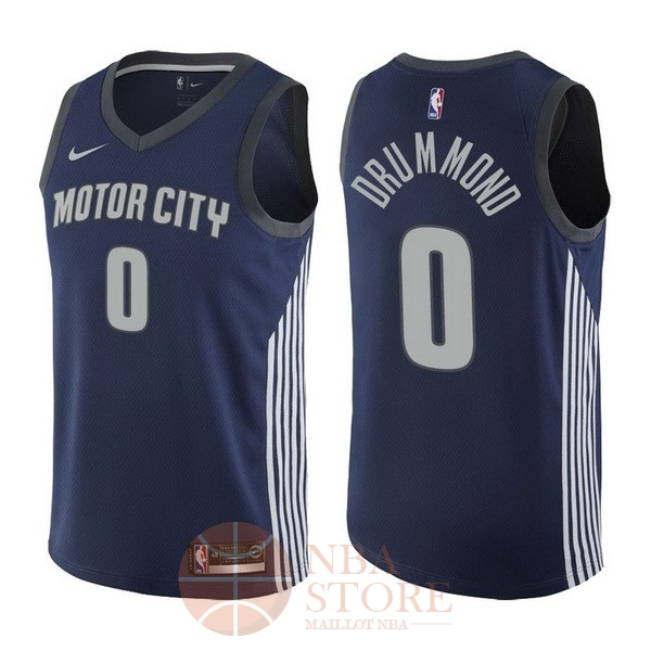 Classic Maillot NBA Nike Detroit Pistons NO.0 Andre Drummond Nike Marine Ville 2017-18