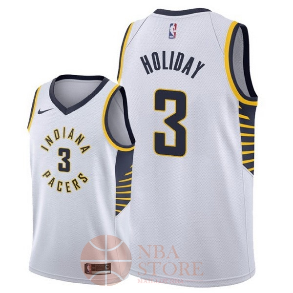 Classic Maillot NBA Nike Indiana Pacers NO.3 Aaron Holiday Blanc Association 2018