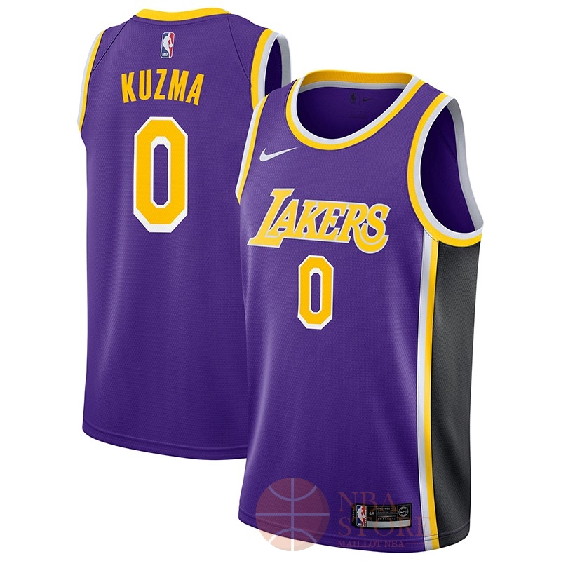 Classic Maillot NBA Nike Los Angeles Lakers NO.0 Kyle Kuzma Pourpre Statement 2018-19