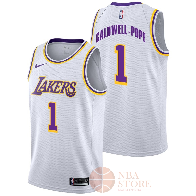 Classic Maillot NBA Nike Los Angeles Lakers NO.1 Kentavious Caldwell Pope Blanc Association 2018-19
