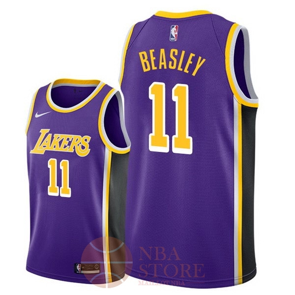 Classic Maillot NBA Nike Los Angeles Lakers NO.11 Michael Beasley Pourpre Statement 2018-19