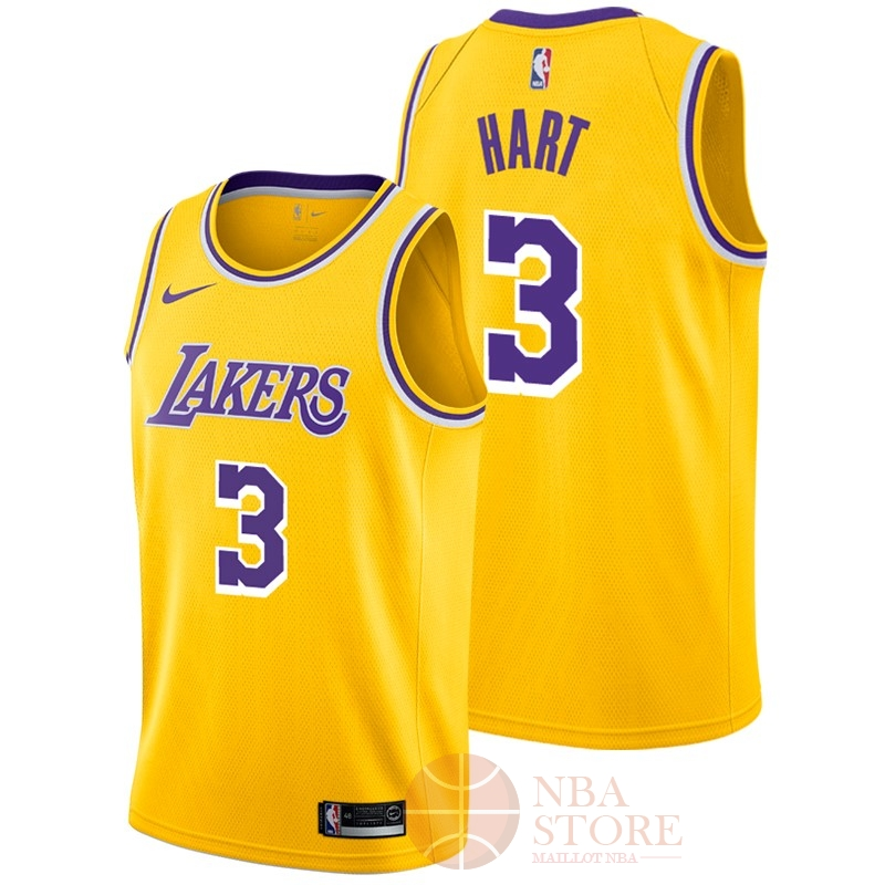 Classic Maillot NBA Nike Los Angeles Lakers NO.3 Josh Hart Jaune Icon 2018-19
