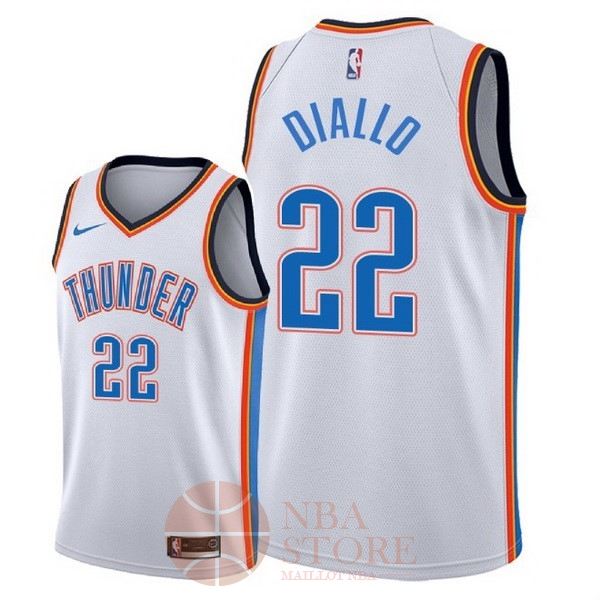 Classic Maillot NBA Nike Oklahoma City Thunder NO.22 Hamidou Diallo Blanc Association 2018