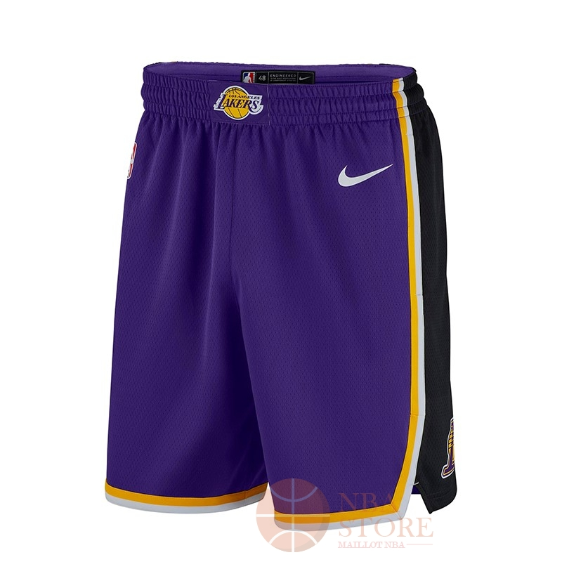 Classic Short Basket Los Angeles Lakers Nike Pourpre 2018-19