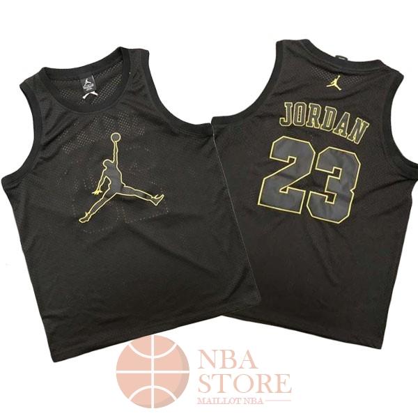 43c50eaf7f818 Classic Maillot NBA Chicago Bulls NO.23 Michael Jordan Jordan Logo Noir