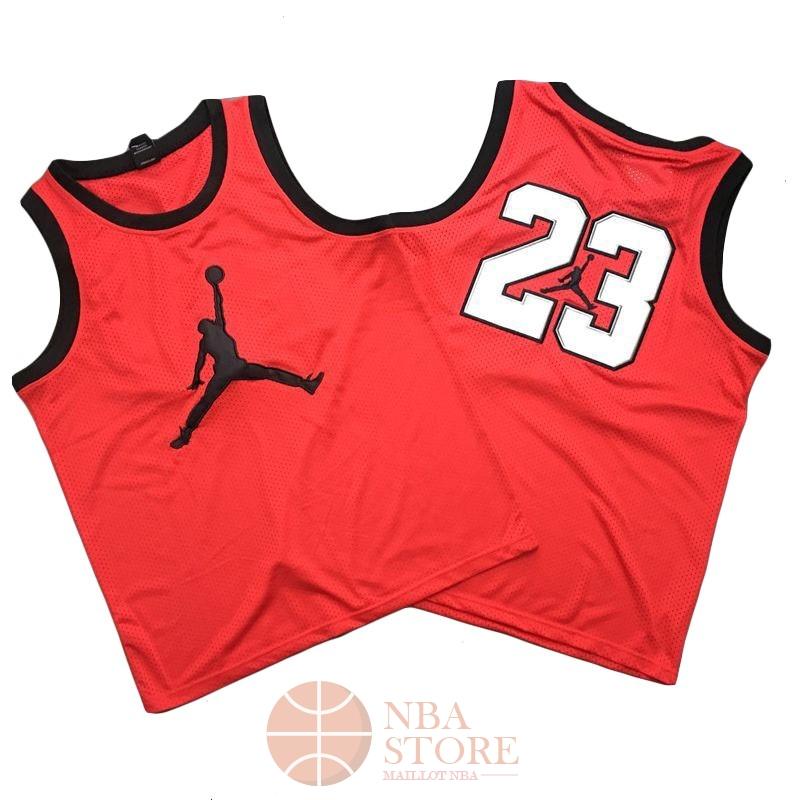 b8289637de3ae Classic Maillot NBA Chicago Bulls NO.23 Michael Jordan Jordan Logo Rouge
