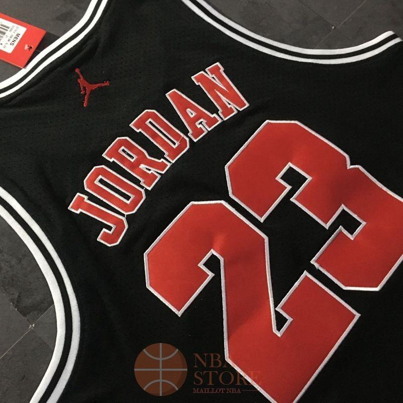 d107efc16d080 ... Classic Maillot NBA Chicago Bulls NO.23 Michael Jordan Noir Rouge Blanc  ...