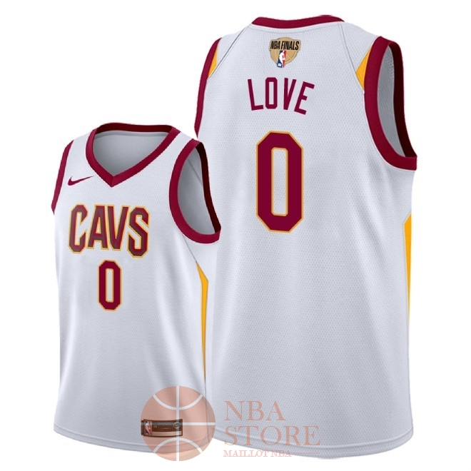 Classic Maillot NBA Cleveland Cavaliers 2018 Final Champions NO.0 Kevin Love Blanc Association Patch