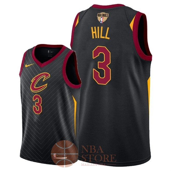 Classic Maillot NBA Cleveland Cavaliers 2018 Final Champions NO.3 George Hill Noir Statement Patch