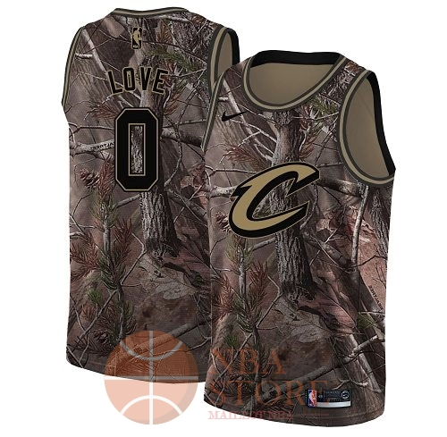 Classic Maillot NBA Cleveland Cavaliers NO.0 Kevin Love Camo Swingman Collection Realtree 2018