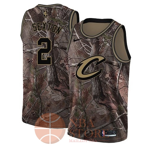 Classic Maillot NBA Cleveland Cavaliers NO.2 Collin Sexton Camo Swingman Collection Realtree 2018