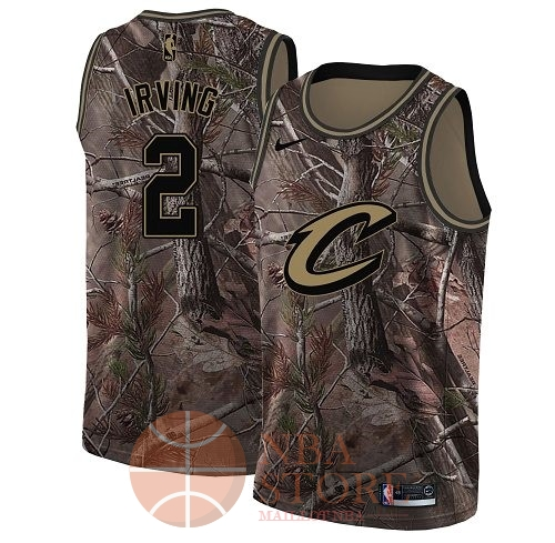 Classic Maillot NBA Cleveland Cavaliers NO.2 Kyrie Irving Camo Swingman Collection Realtree 2018