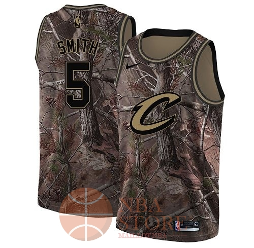 Classic Maillot NBA Cleveland Cavaliers NO.5 J.R. Smith Camo Swingman Collection Realtree 2018