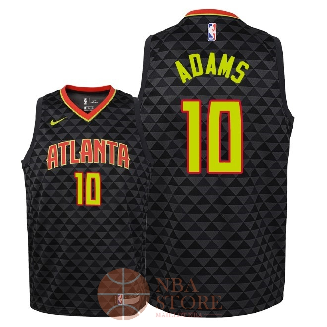 Classic Maillot NBA Enfant Atlanta Hawks NO.10 Jaylen Adams Noir Icon 2018-19