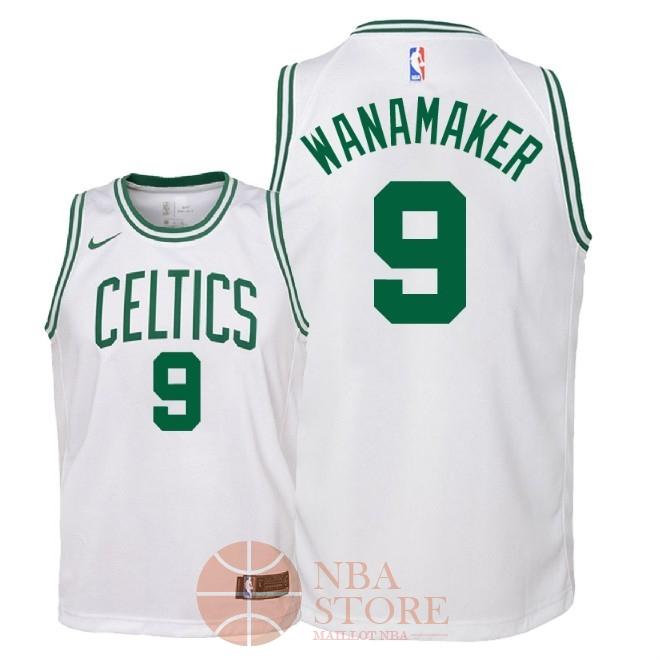 9fd6811357d11 Classic Maillot NBA Enfant Boston Celtics NO.9 Bradley Wanamaker Blanc  Association 2018