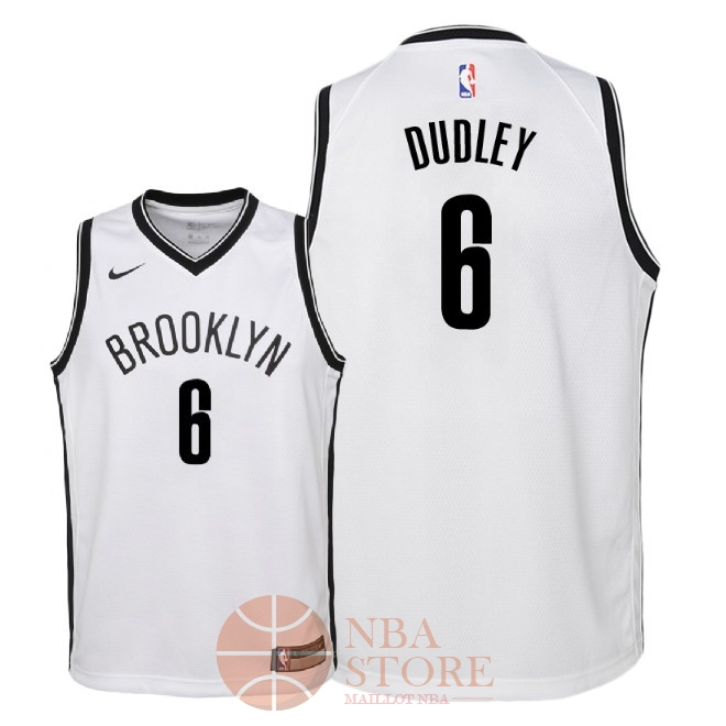 Classic Maillot NBA Enfant Brooklyn Nets NO.6 Jared Dudley Blanc Association 2018