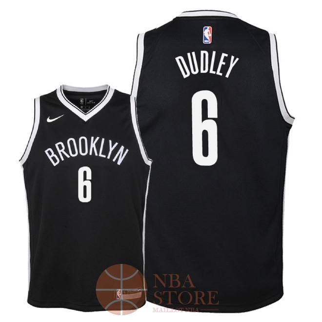 Classic Maillot NBA Enfant Brooklyn Nets NO.6 Jared Dudley Noir Icon 2018