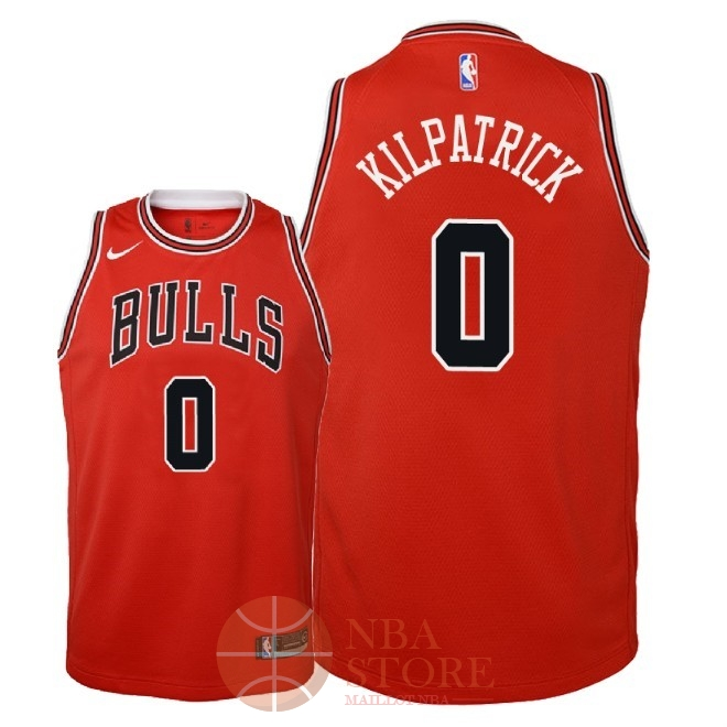 Classic Maillot NBA Enfant Chicago Bulls NO.0 Sean Kilpatrick Rouge Icon 2018