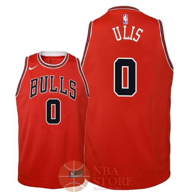 Classic Maillot NBA Enfant Chicago Bulls NO.0 Tyler Ulis Rouge Icon 2018