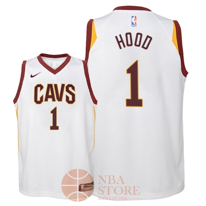 Classic Maillot NBA Enfant Cleveland Cavaliers NO.1 Rodney Hood Blanc Association 2018