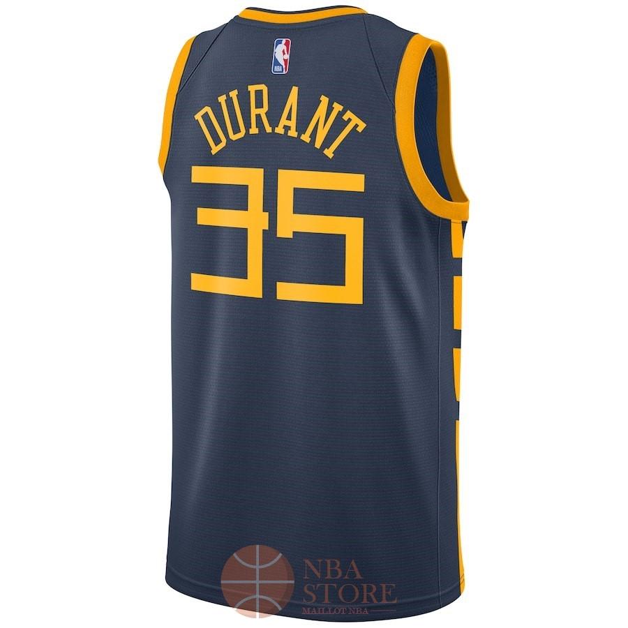 3104e58084ea9 ... Classic Maillot NBA Enfant Golden State Warriors NO.35 Kevin Durant  Nike Marine Ville 2018 ...