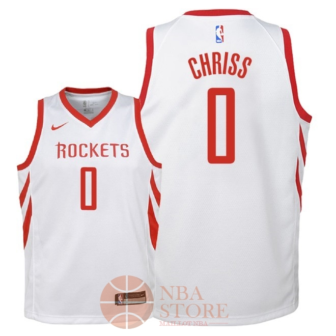 Classic Maillot NBA Enfant Houston Rockets NO.0 Marquese Chriss Blanc Association 2018